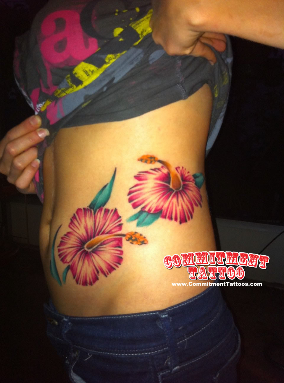 floral flower tattoos by bob hey commitment tattoo