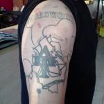 Original Tattoo before the Coverup.
